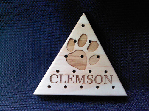 Clemson Tigers - Last Man Standing- Wooden Peg game - Cutting Edge Lazer