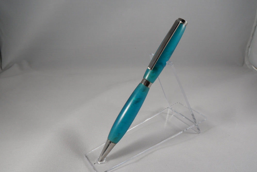 Blue Acrylic Writing Pen - Cutting Edge Lazer