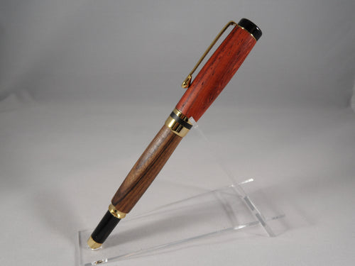 Padauk & Bolivian Rosewood wood Writing Pen - Cutting Edge Lazer