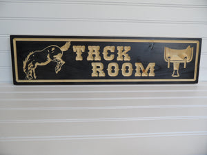 Engraved Sign - Tack Room Sign - Cutting Edge Lazer
