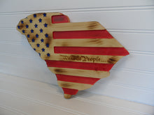 Engraved Sign - SC State shape w/Flag - Cutting Edge Lazer