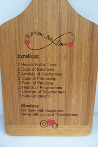 Engraved Cutting Board - Wedding Gift - Housewarming - Family Recipe - Anniversary - Mother's Day - Father's Day - Grill Master - Cutting Edge Lazer
