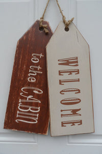 Door Tag - Welcome Sign - Home Sign - Door Sign - Home Decor - Rustic Sign - Cabin Sign - Cutting Edge Lazer