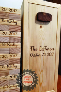 Wedding Guest Book Alternative - Wooden blocks- 5th Anniversary Guest Book -Bridal Shower -  Business Promotion - Graduation - Icebreaker - Cutting Edge Lazer