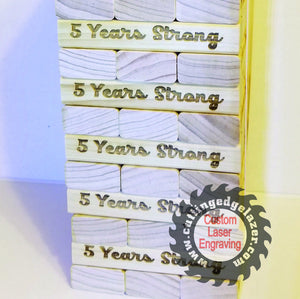 Wedding Guest Book Alternative -Wooden Blocks-5th Anniversary Guest Book-Bridal Shower -Business Promotion - Graduation Keepsake -Icebreaker - Cutting Edge Lazer