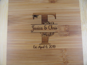 Engraved Cutting Board - Wedding Gift - Cutting Edge Lazer