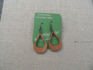 Laser Cut Wood Earring - Cutting Edge Lazer