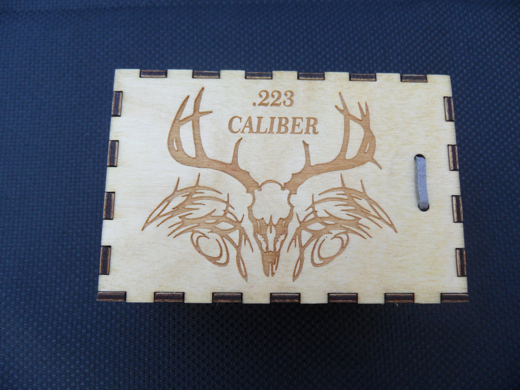 Ammo Box 223 caliber Wooden Laser Cut - 25 round - Cutting Edge Lazer