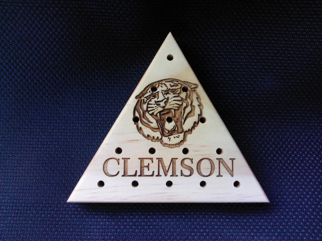 Clemson Tigers - Last Man Standing- Peg game- Wedding Reception-Business Promotions-Team colors - family game - Anniversary - Man Cave - Cutting Edge Lazer