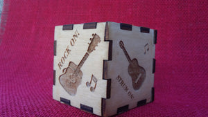 Guitar Pick laser engraved emblem keepsake box - Cutting Edge Lazer