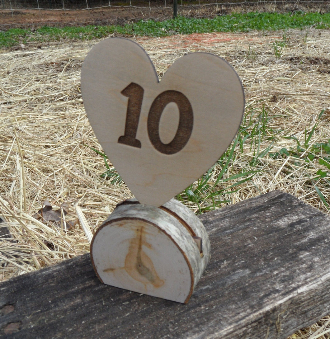 Rustic Table Number - Wedding - Wedding Table Decor - Party Number - Cake Topper - Cupcake Topper - Cutting Edge Lazer