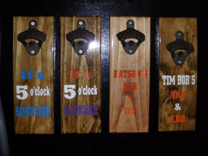 Magnetic Bottle Opener - Wooden - UNITED WE STAND - American Eagle - Father's Day gift - Graduation Gift - Man Cave - Groomsman gift - Cutting Edge Lazer