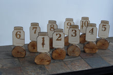 Rustic Table Number - Mason Jar - Wedding Table Decor - Place Number - cake-cupcake topper - Cutting Edge Lazer