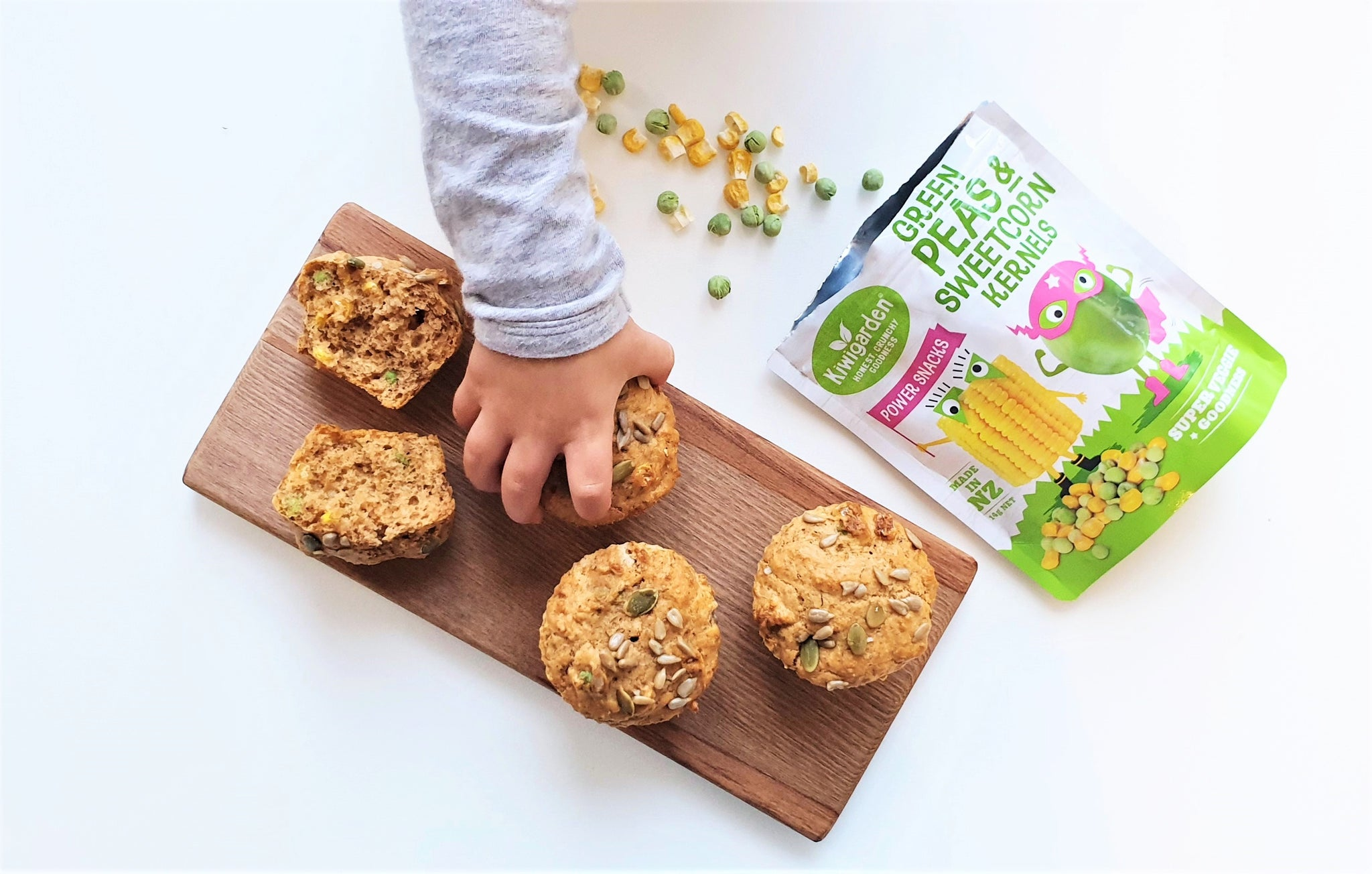 Freeze-Dried Peas & Corn Power Muffins