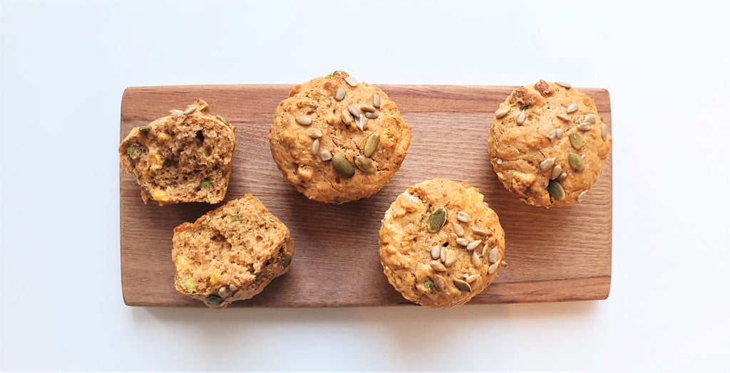 Family Recipes - Peas and Corn Power Muffins - Healthy Snacks NZ