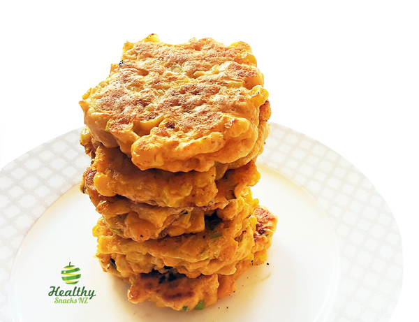 Best Cheesy Corn Fritters - Healthy Snacks NZ
