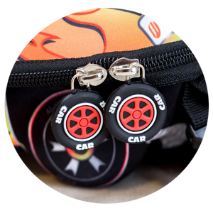 Kids Backpack, 3D Fire Rescue Car - Healthy Snacks NZ