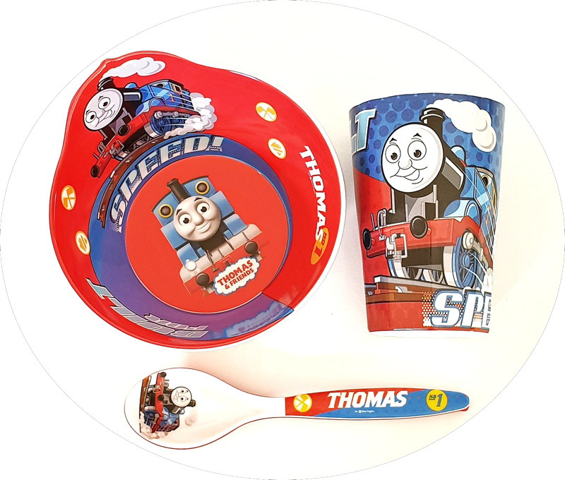 3pc Tableware Set, Thomas & Friends - Healthy Snacks NZ