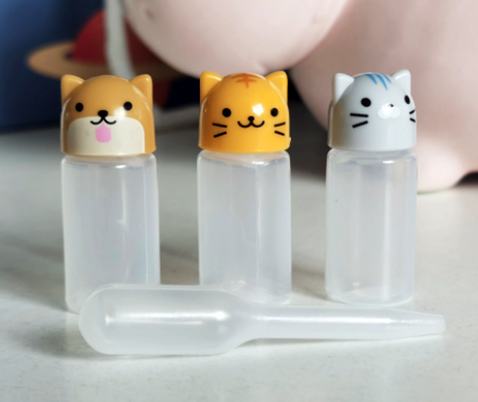 3pc Mini Sauce Bottle with Dropper, Cats - Healthy Snacks NZ