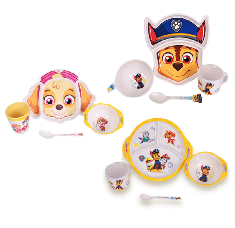 4pc Paw Patrol Tableware Set, Multiply Styles - Healthy Snacks NZ