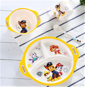 4pc Paw Patrol Tableware Set, Rubble - Healthy Snacks NZ
