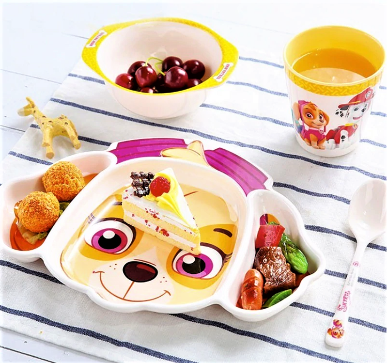 4pc Paw Patrol Tableware Set, Skye - Healthy Snacks NZ