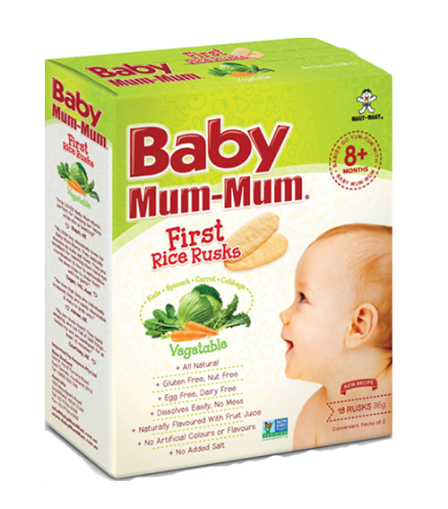 Baby Mum-Mum, Rice Rusks, Vegetables. All natural, no sugar added baby puffs. Healthy Snacks NZ - Buy Online