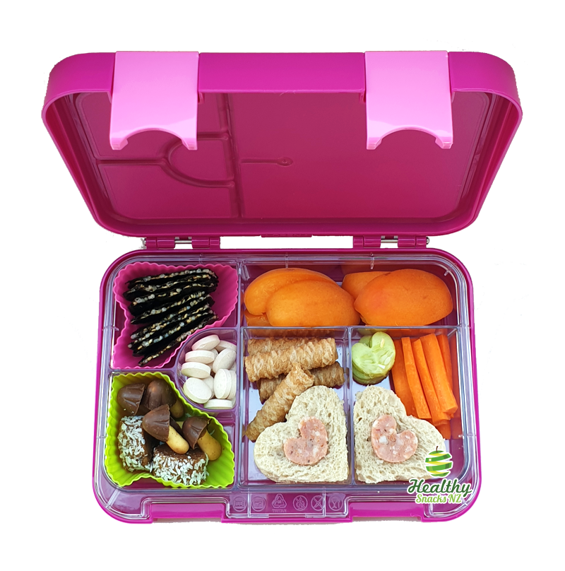 Leakproof Convertible Bento 6 Lunchbox – Purple - Healthy Snacks NZ - Buy Online