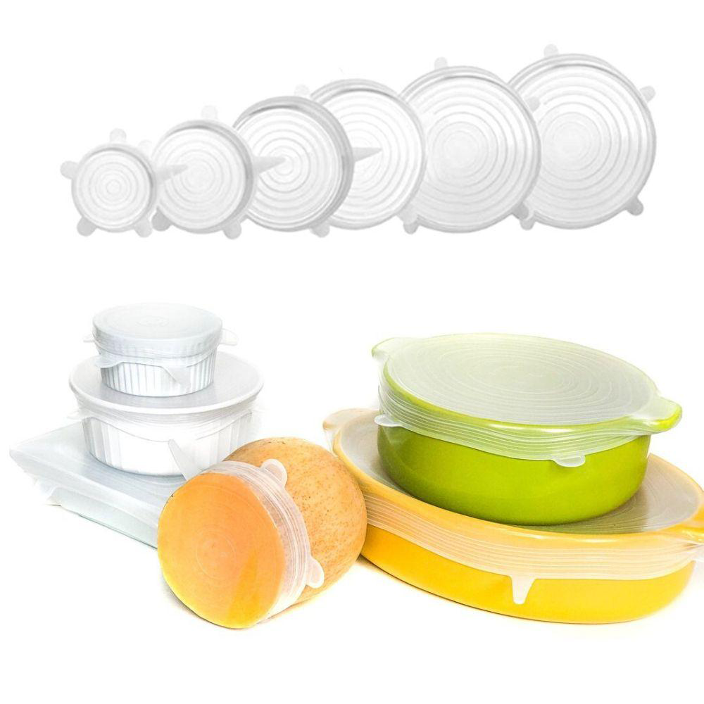 6pc Premium Reusable Silicone Stretchy Lids - Healthy Snacks NZ