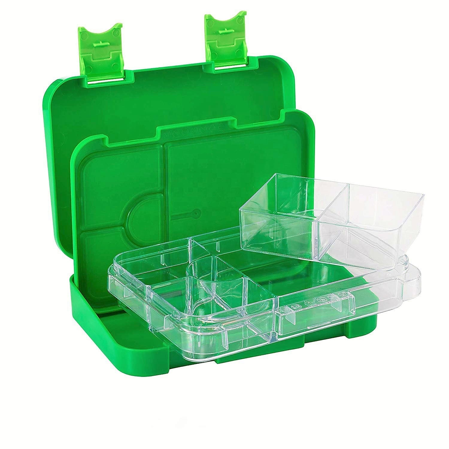 Everyday Leakproof Convertible Kids Bento 6 Lunchbox – Green - Healthy Snacks NZ - Buy Online NZ