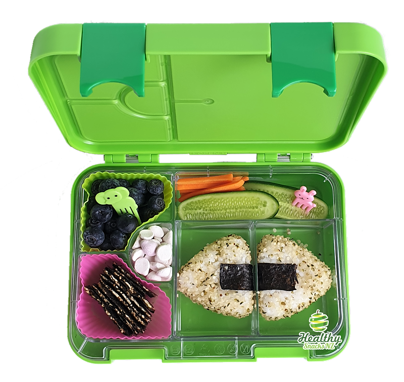 Leakproof Convertible Kids Bento 6 Lunchbox – Green - Healthy Snacks NZ - Buy Online NZ
