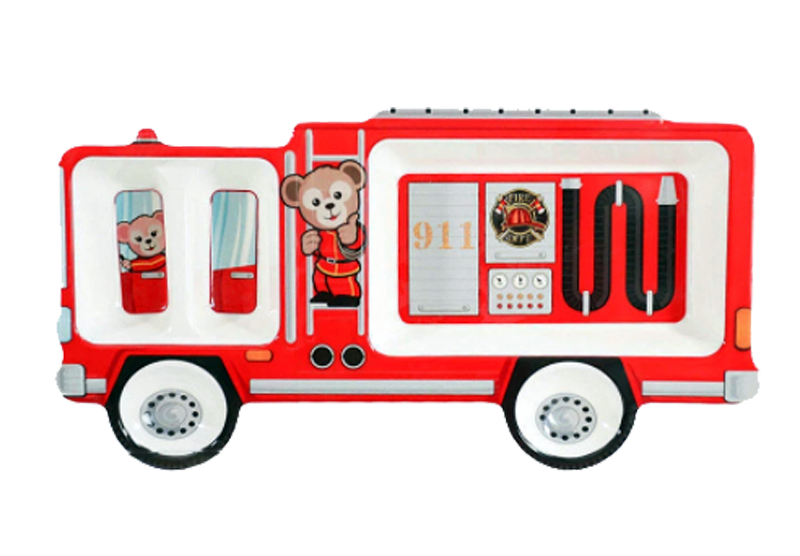 Fire Engine, Kids Divided Plate - Healthy Snacks NZ