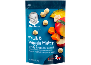 Gerber, Fruit & Veggie Melts, Truly Tropical Blend, 28g - Healthy Snacks NZ