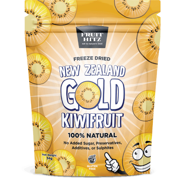 Healthy Snacks NZ - NZ Gold Kiwifruit Freeze-Dried - Eating Healthy for Healthy Living