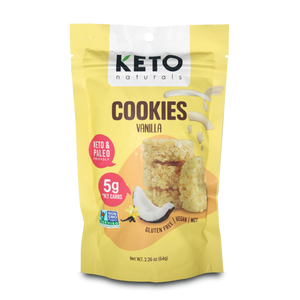 Keto Cookies, Vanilla, 64g - Healthy Snacks NZ