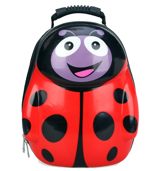 Kids Hard-shell Backpack, Ladybird - Healthy Snacks NZ
