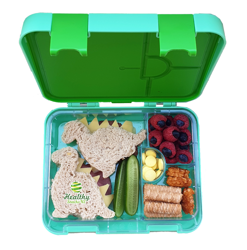 Maxi Leakproof Bento 6 Lunch box Green - Healthy Snacks NZ