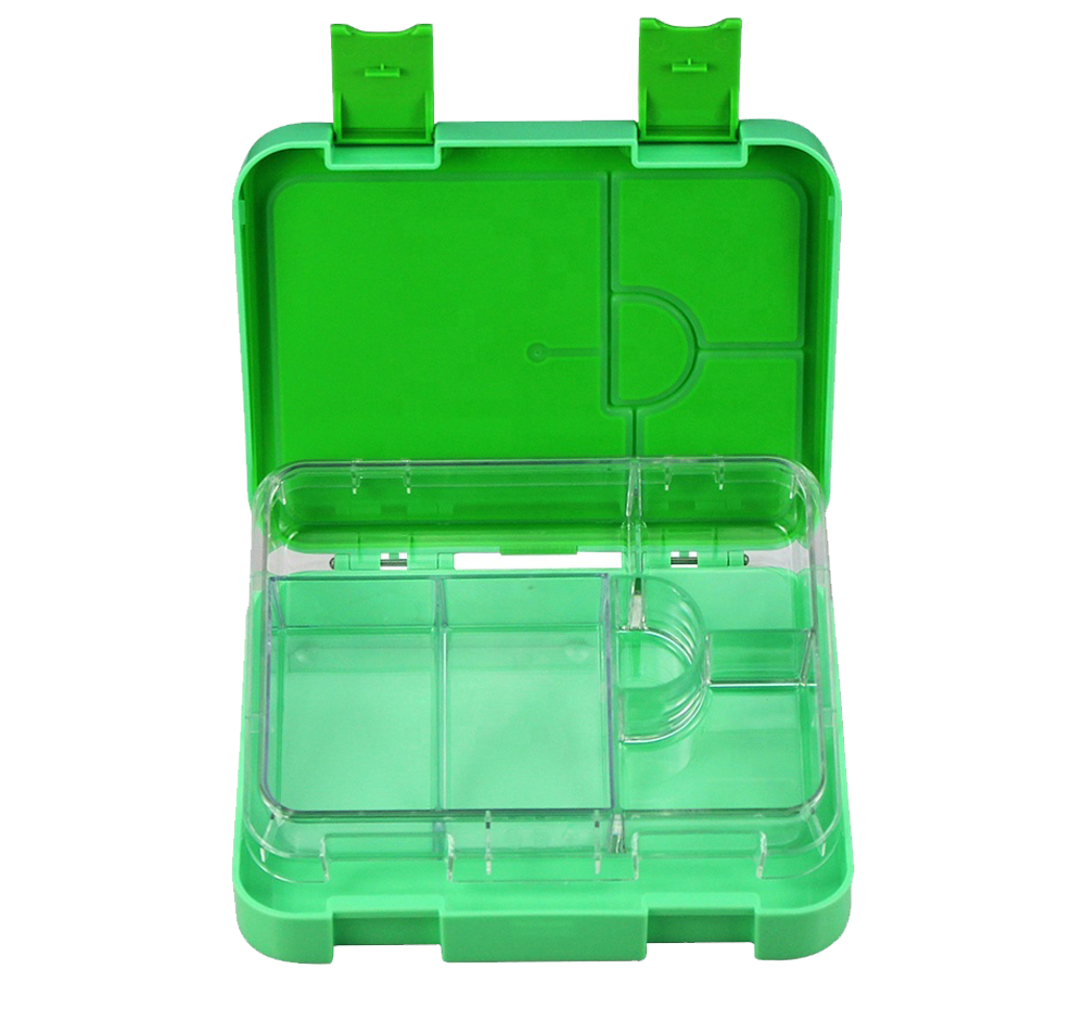 Maxi Leakproof Bento 6 Lunchbox Green - Healthy Snacks NZ