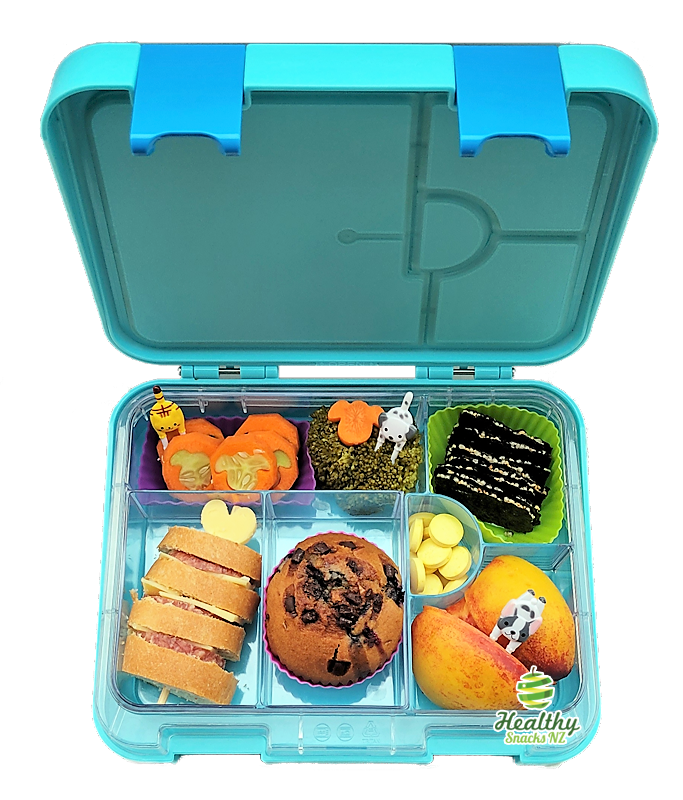 Maxi Leakproof Bento 6 Lunchbox Blue, Healthy Snacks NZ - Order Online