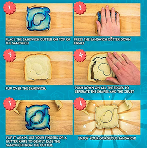 Sandwich/Cookie Cutters - How to Instructions- Healthy Snacks NZ - Buy Online