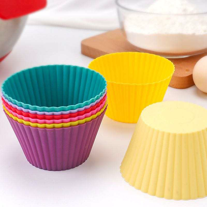 12pc Jumbo Silicone Muffin Cups, Mixed Colours - Healthy Snacks NZ