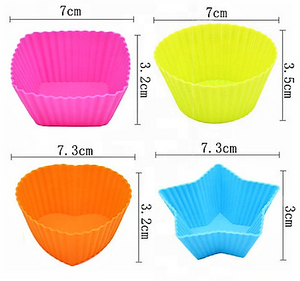 Silicone Food and Muffin Cups - Fun Shapes - Healthy Snacks NZ - Buy Online