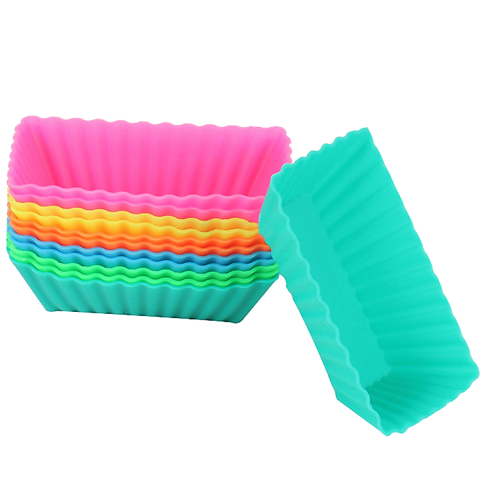 6 pcs Silicone Food Cups, Rectangular - Healthy Snacks NZ