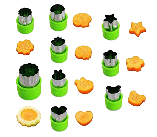 Stainless Steel Fruit & Veggie Cutters Set - Healthy Snacks NZ - AfterPay - Buy Online