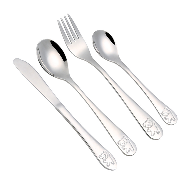Stainless Steel Kids Cutlery Set - Healthy Snacks NZ - Order Online