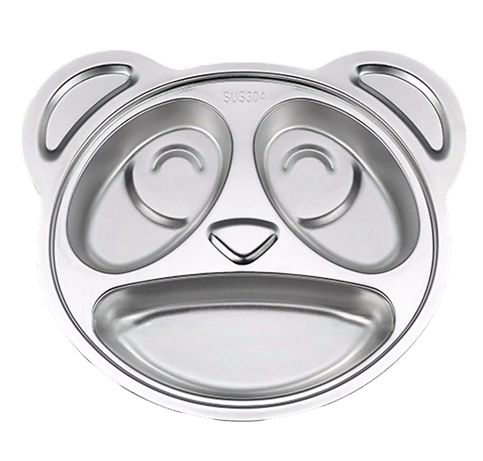 Stainless Steel Kids Divided Plate - Panda - Healthy Snacks NZ - Fast Shipping