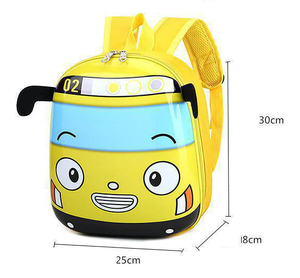 Kids Hard-shell Boys Backpack, Yellow Bus - Healthy Snacks NZ