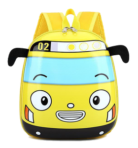 Kids Hard-shell Backpack, Yellow Bus - Healthy Snacks NZ