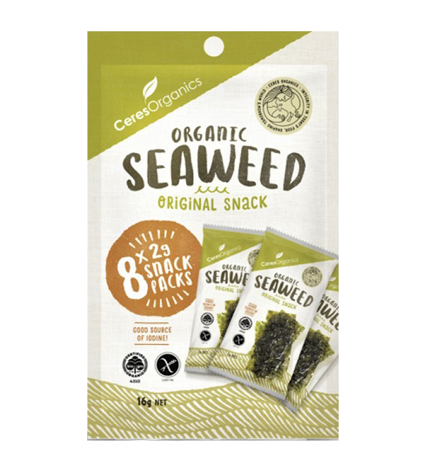 Ceres Organic Seaweed Snack, Multi-pack - Healthy Snacks NZ