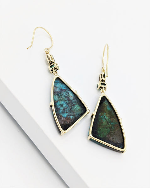 Smoky Amazonitie Wing Earrings